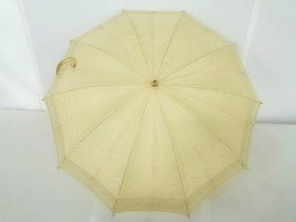 WAKO(ワコー) 日傘  ベージュ×ゴールド ナイロン×金属素材