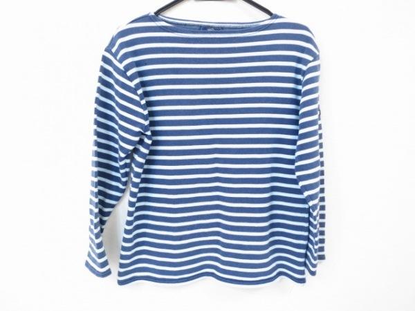 セントジェームス 長袖Tシャツ レディース美品  ネイビー×ライトブルー ボーダー