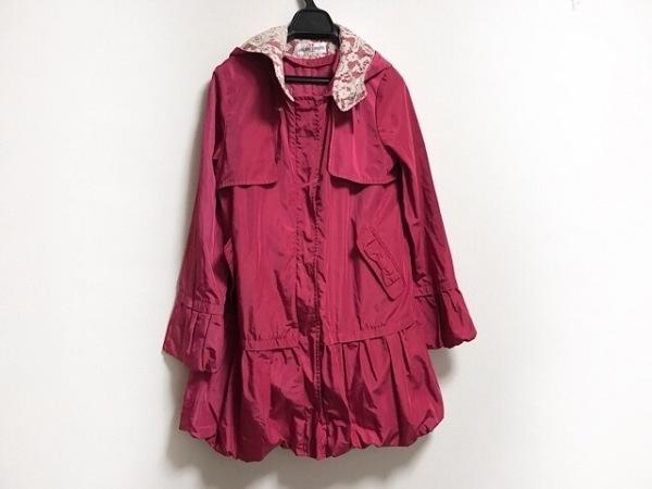 ギャラリービスコンティ コート サイズ2 M レディース ピンク フリル/冬物/ショート丈