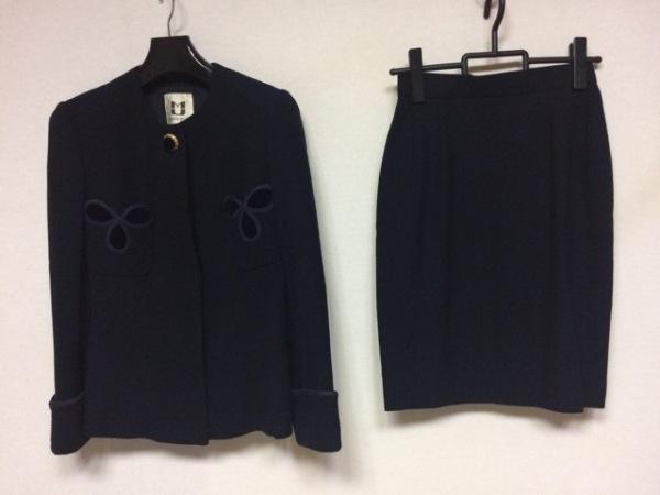 MUSEE D'UJI(ミュゼドウジ) スカートスーツ レディース美品  ネイビー