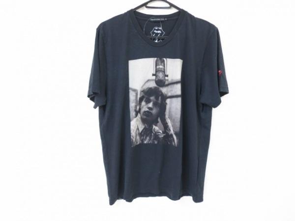 ジーヒステリック トリプルエックス 半袖Tシャツ サイズL メンズ美品  黒×ベージュ