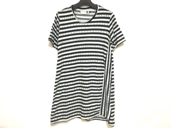 Devastee(ディバステ) 半袖Tシャツ サイズ38 M レディース 黒×白 ボーダー