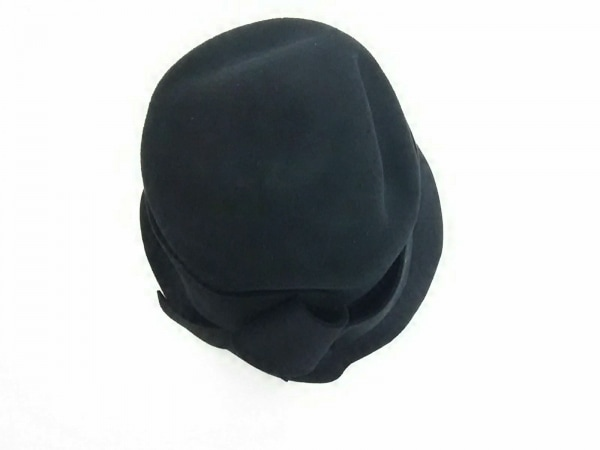 maxim(マキシン) ハット美品  黒 リボン ウール