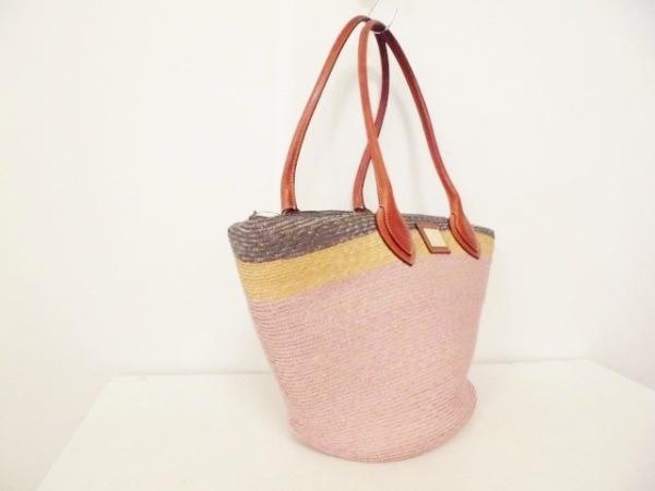 エミリオプッチ トートバッグ ピンク×マルチ かごバッグ 2