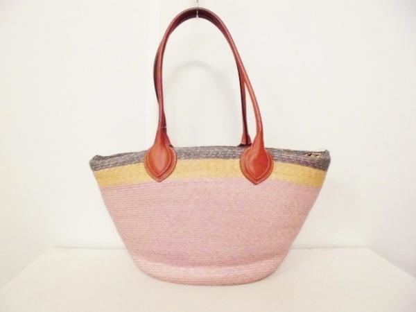 エミリオプッチ トートバッグ ピンク×マルチ かごバッグ 3