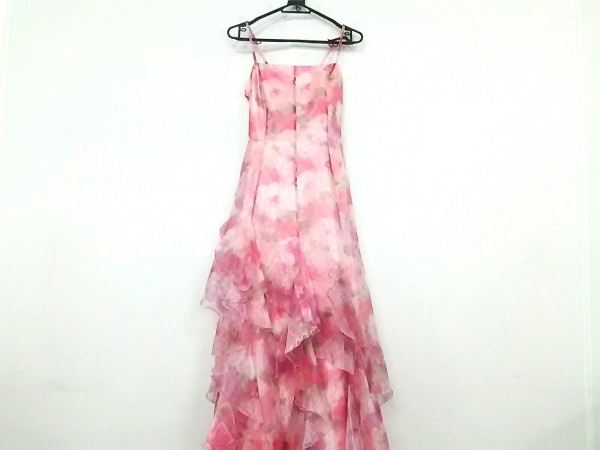 aimer(エメ) ドレス サイズ13 L レディース ピンク×グリーン 花柄