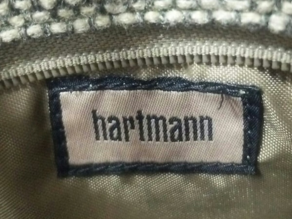 ハートマン ボストンバッグ ブラウン×ベージュ×ライトブラウン ウール×レザー