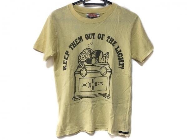 オーバーザストライプス 半袖Tシャツ レディース美品  イエロー×ダークグレー