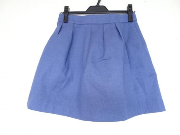 MAISON KITSUNE(メゾンキツネ) スカート サイズ38 M レディース美品  ブルー