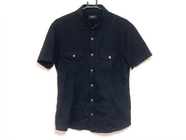 EPOCA(エポカ) 半袖シャツ サイズ48 XL メンズ 黒 UOMO
