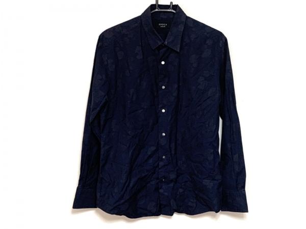 EPOCA(エポカ) 長袖シャツ サイズ46 XL メンズ ダークネイビー UOMO/ペイズリー