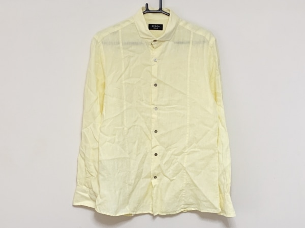 EPOCA(エポカ) 長袖シャツ サイズ46 XL メンズ イエロー UOMO