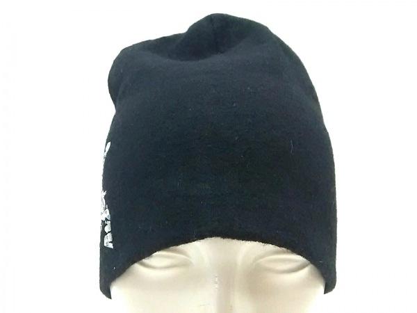 roar(ロアー) ニット帽美品  黒 ラインストーン ウール