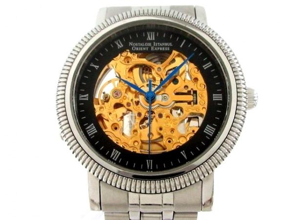 ORIENT EXPRESS(オリエントエクスプレス) 腕時計 OM-8017 メンズ 裏スケ ゴールド