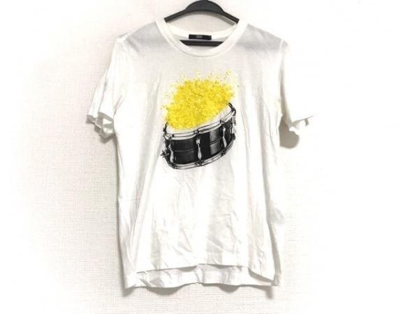 マーカスルプファー 半袖Tシャツ サイズS レディース美品  白×黒×イエロー