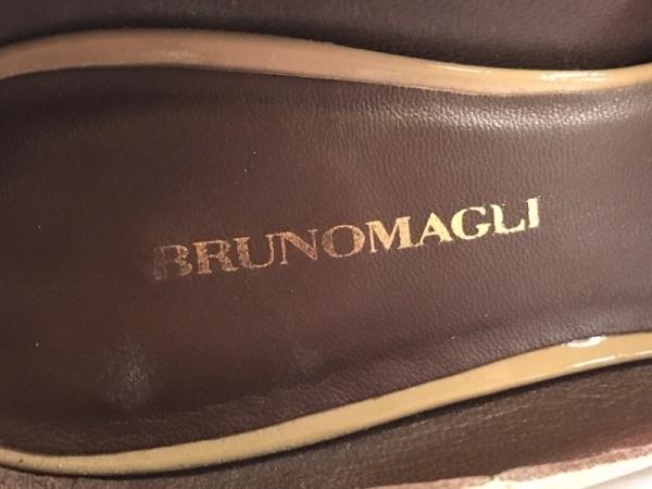 BRUNOMAGLI(ブルーノマリ) パンプス 34 1/2 レディース ブラウン エナメル(レザー)
