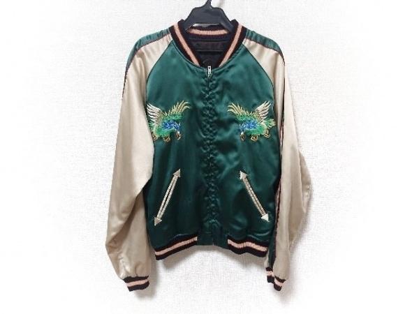 テーラー東洋(テーラートーヨー) ブルゾン サイズL メンズ美品  グリーン×黒×マルチ