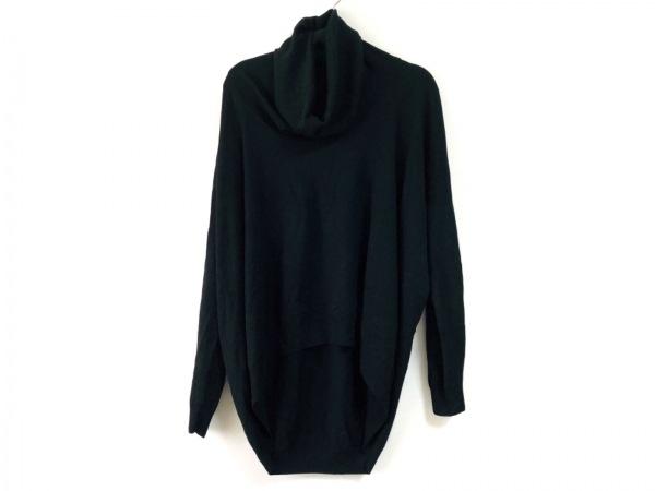 MM6(エムエムシックス) 長袖セーター サイズM レディース 黒 変形デザイン/ハイネック