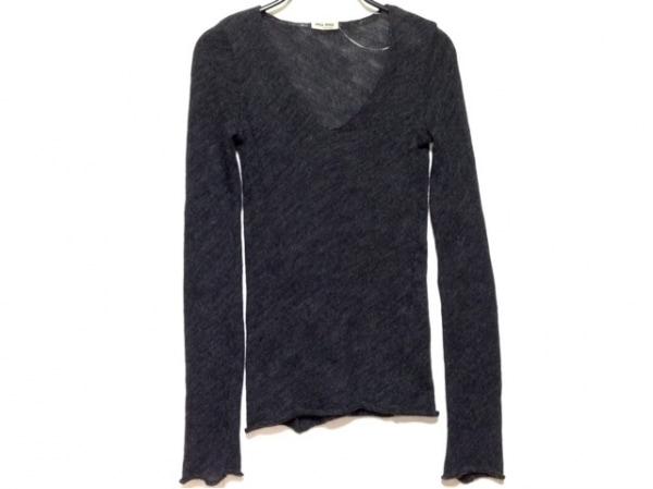 miumiu(ミュウミュウ) 長袖セーター サイズ38 S レディース ダークグレー