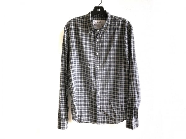 フランク&アイリーン 長袖シャツ サイズM メンズ グレー×黒×白 チェック柄