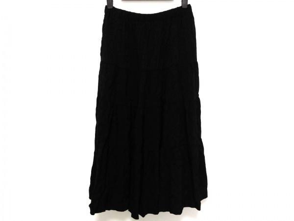 トリココムデギャルソン ロングスカート レディース 黒 花柄/ウエストゴム