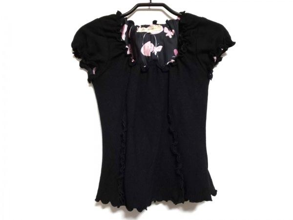 ジーザスディアマンテ 半袖カットソー サイズF レディース 黒×ピンク