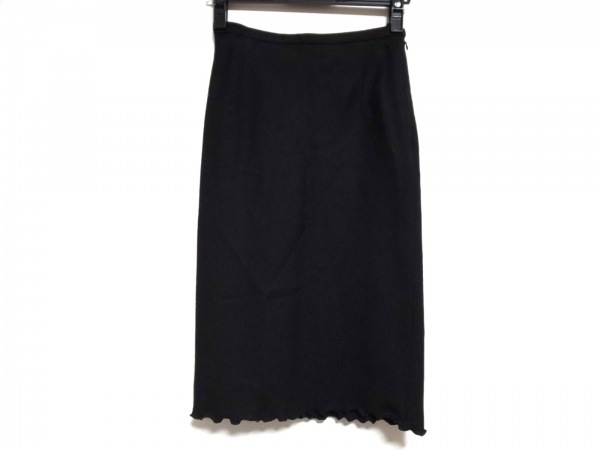 JESUS DIAMANTE(ジーザスディアマンテ) スカート サイズF レディース 黒×ピンク 花柄