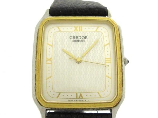 セイコークレドール 腕時計 8J81-5040 レディース 革ベルト/型押し加工/18KT