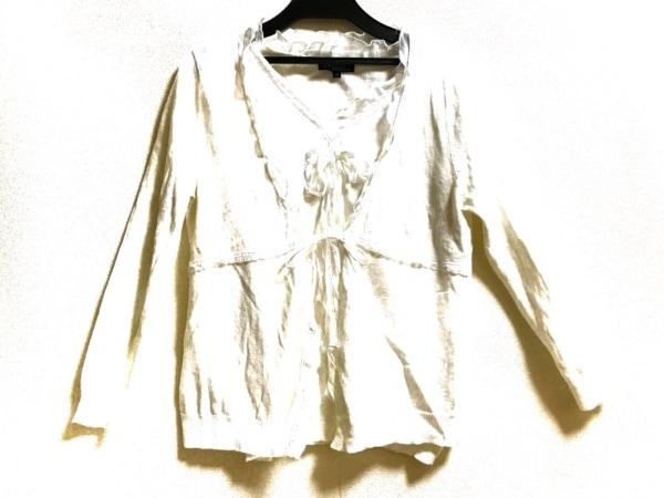 23区(ニジュウサンク) アンサンブル サイズ38 M レディース美品  白 リボン/フリル