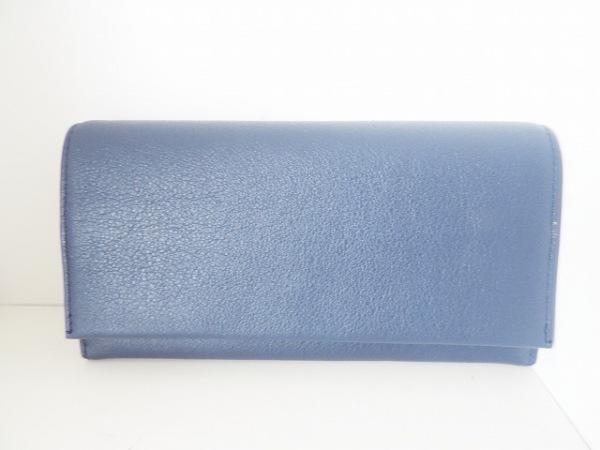 土屋鞄製造所(ツチヤカバンセイゾウショ) 長財布美品  ネイビー レザー