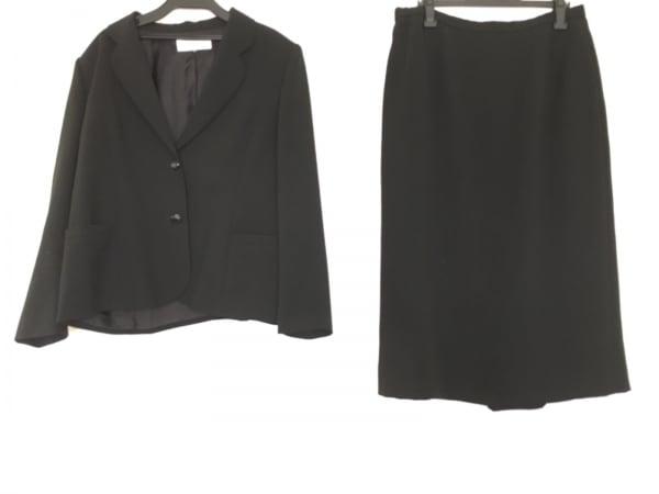 SOIR PERLE(ソワール ペルル) スカートスーツ サイズ17 XL レディース 黒 3点セット