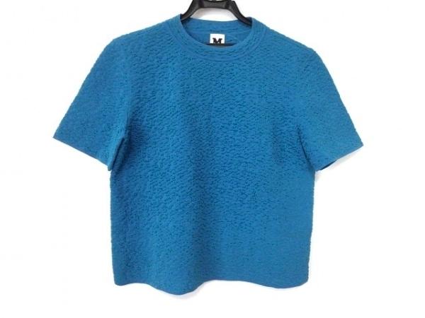 MISSONI(ミッソーニ) 半袖カットソー サイズ42 M レディース美品  ブルー