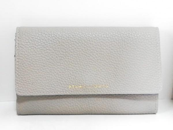 BEAMS Lights(ビームスライツ) 財布美品  ライトグレー 合皮