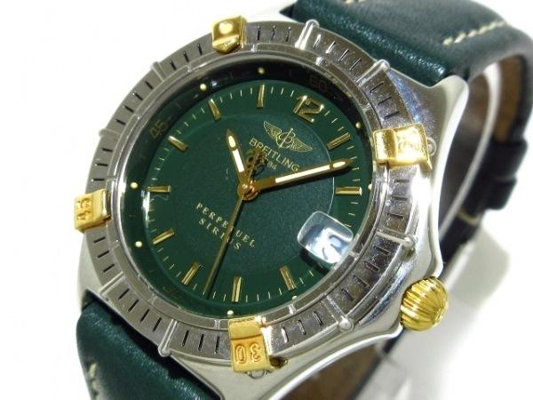 ブライトリング 腕時計美品  シリウス B62021 レディース 革ベルト ダークグリーン
