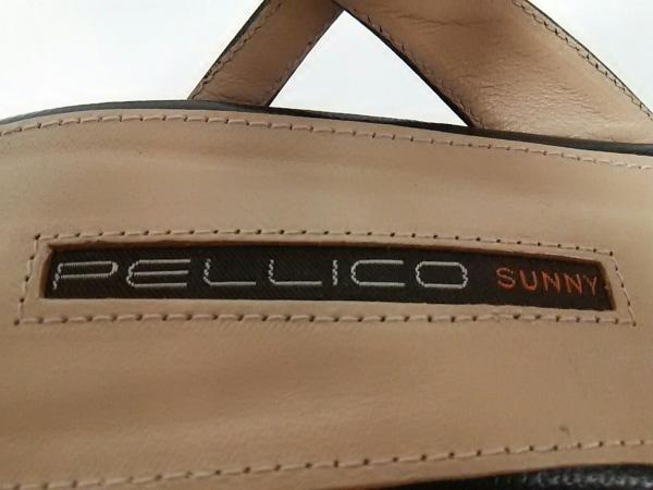 PELLICO(ペリーコ) サンダル 35 レディース美品  黒×アイボリー レザー