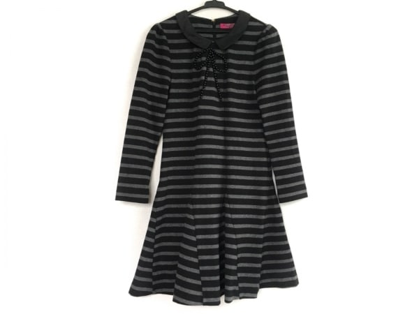 DOLLY GIRL(ドーリーガール) ワンピース サイズ2 S レディース美品  黒×グレー