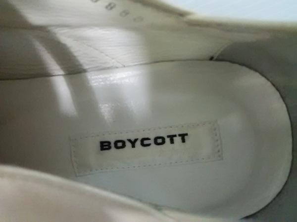 BOYCOTT(ボイコット) シューズ 27 メンズ アイボリー レザー