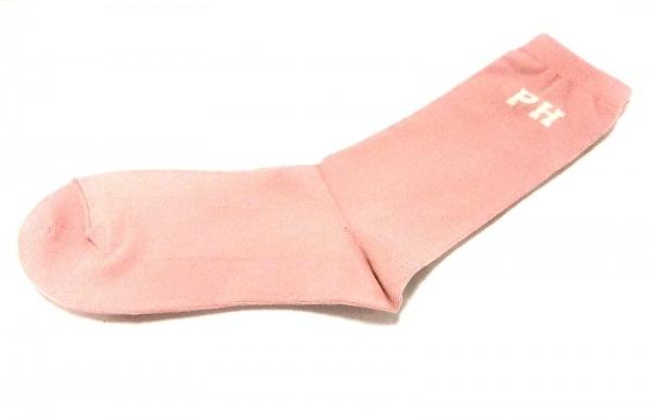 PINK HOUSE(ピンクハウス) 小物美品  ピンク×アイボリー×レッド 靴下 コットン