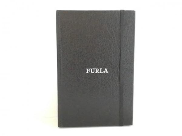 FURLA(フルラ) 手帳 黒×シルバー メモ帳 化学繊維 1