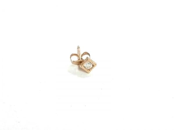 ココシュニック ピアス美品  K10×ダイヤモンド 片側のみ/1Pダイヤ/約0.05カラット