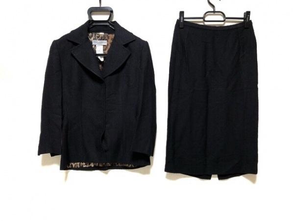 ドルチェアンドガッバーナ スカートスーツ サイズ40 M レディース 黒 ツイード