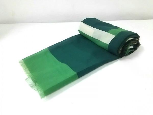 ピエールルイマシア ストール(ショール) ダークグリーン×グリーン×マルチ