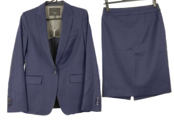 ICB(アイシービー) スカートスーツ レディース新品同様  ネイビー