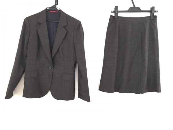 LES MUES(レミュー) スカートスーツ サイズM レディース ダークグレー