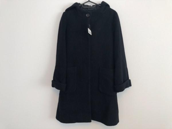 ラピスルーチェビームス コート サイズ38 M レディース美品  黒 冬物