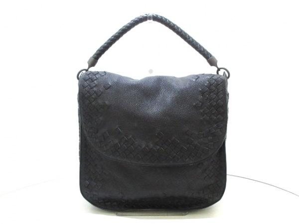 ボッテガヴェネタ ハンドバッグ美品  イントレチャート B02161604U 黒 レザー