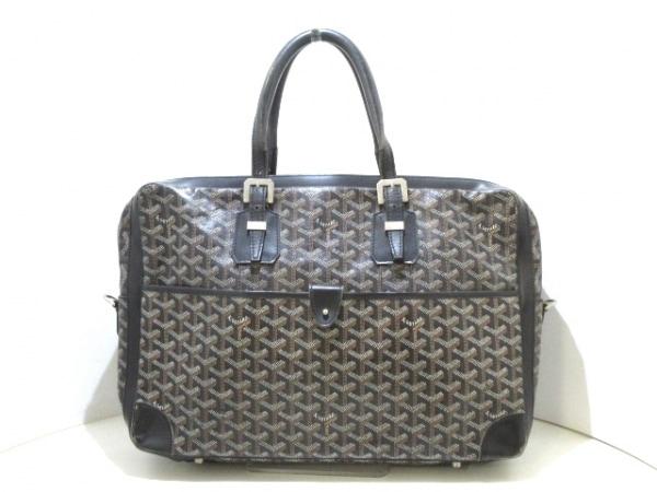 low priced 0a086 766b5 GOYARD(ゴヤール) ビジネスバッグ アンバサダー 黒×白×ブラウン