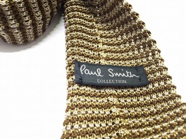 PaulSmith(ポールスミス) ネクタイ メンズ美品  ベージュ×ダークブラウン
