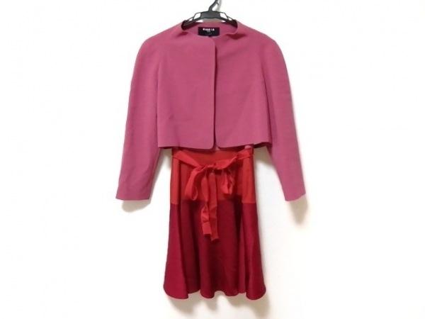 PAULEKA(ポールカ) ワンピーススーツ サイズ38 M レディース美品  ピンク×レッド