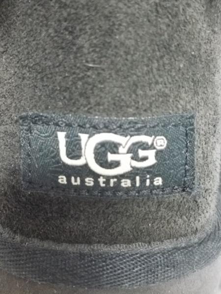 UGG(アグ) ショートブーツ 24 レディース ベイリーボウ 1002954 黒 リボン ムートン